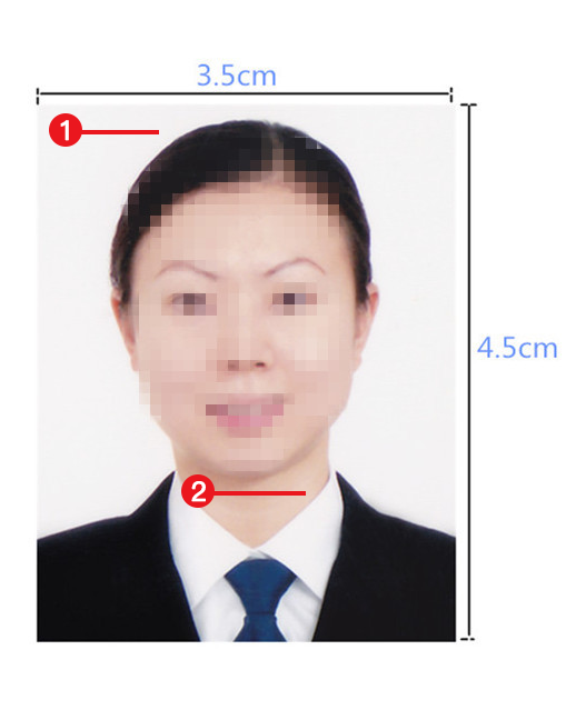 缅甸签证照片模板